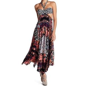 FREE PEOPLE HALTER MAXI DRESS